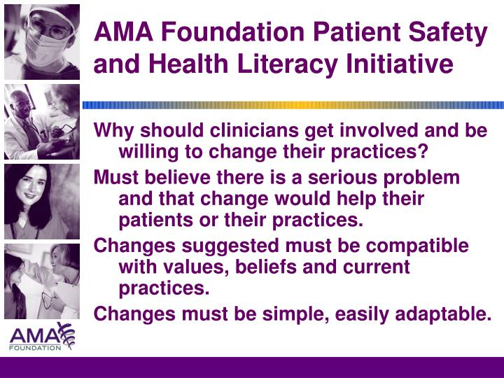 AMA Foundation Patient Safety and Health Literacy Initiative