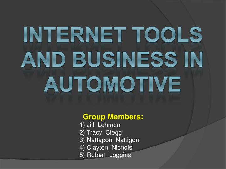 internet tools and business in automotive n.