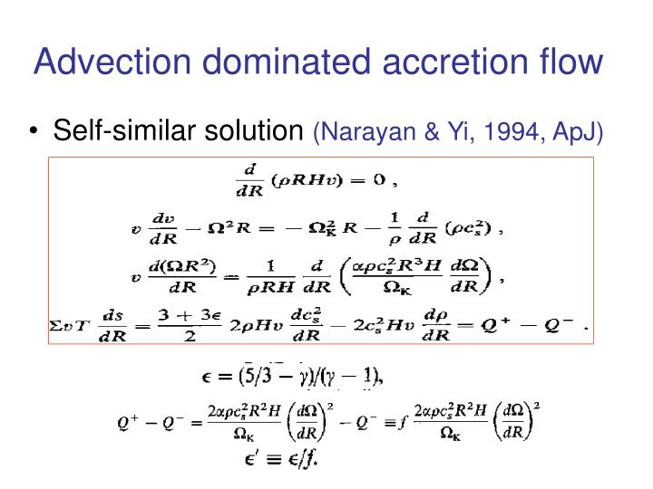 Advection dominated accretion flow