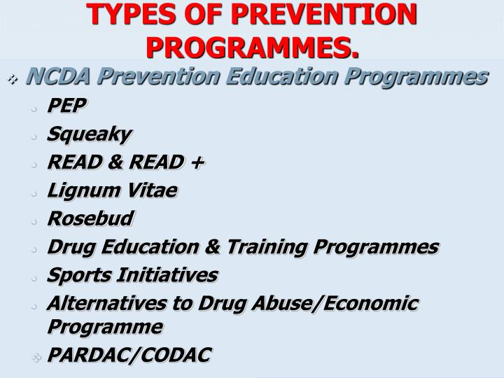 TYPES OF PREVENTION