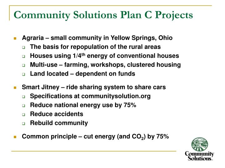 Community Solutions Plan C Projects