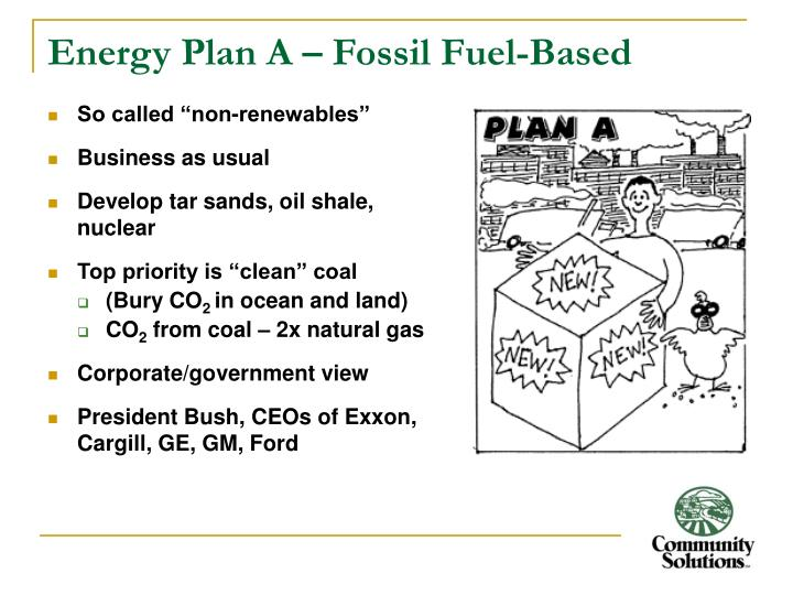 Energy Plan A – Fossil Fuel-Based