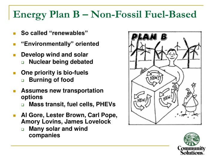 Energy Plan B – Non-Fossil Fuel-Based