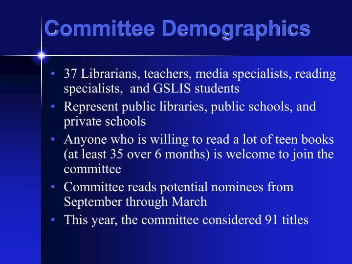 Committee demographics