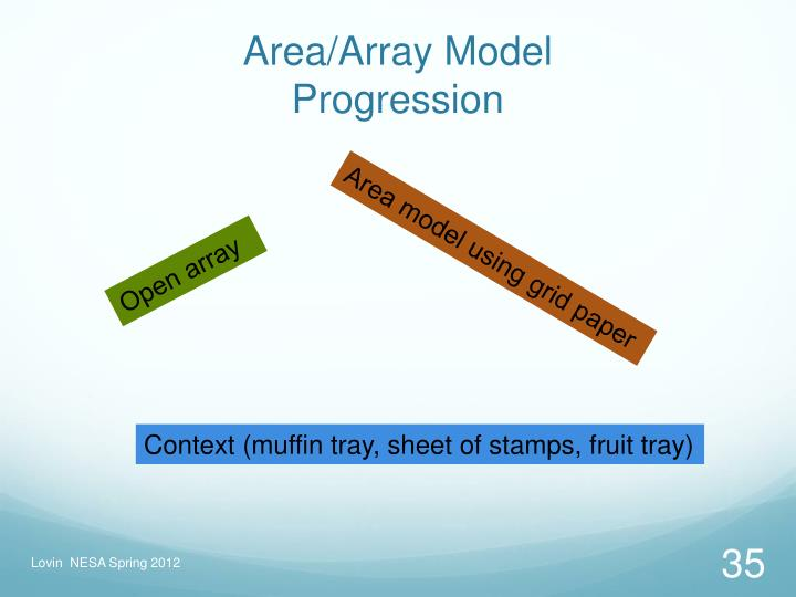 Area/Array Model