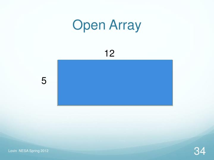 Open Array