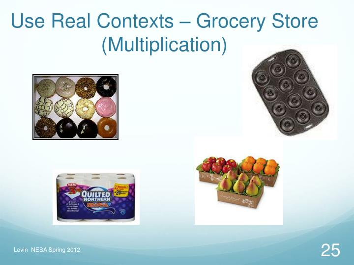 Use Real Contexts – Grocery Store (Multiplication)