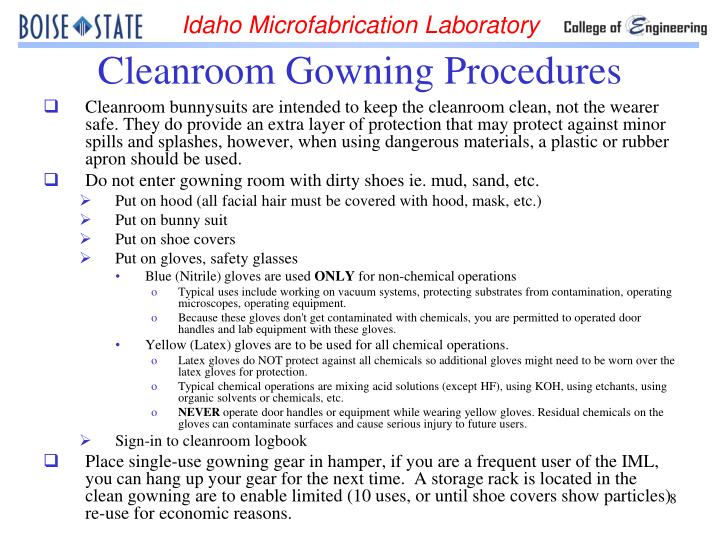 PPT - CLEANROOM SAFETY TRAINING ET105 & ET107 PowerPoint ...