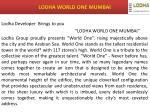 lodha world one mumbai