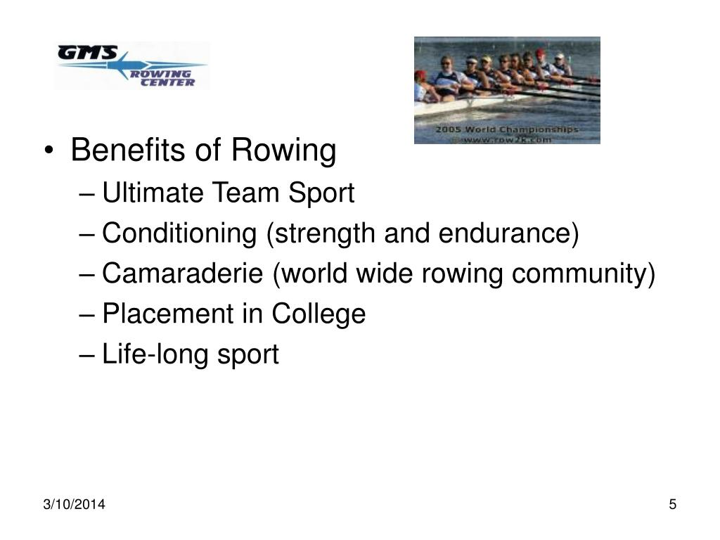 Benefits of Rowing