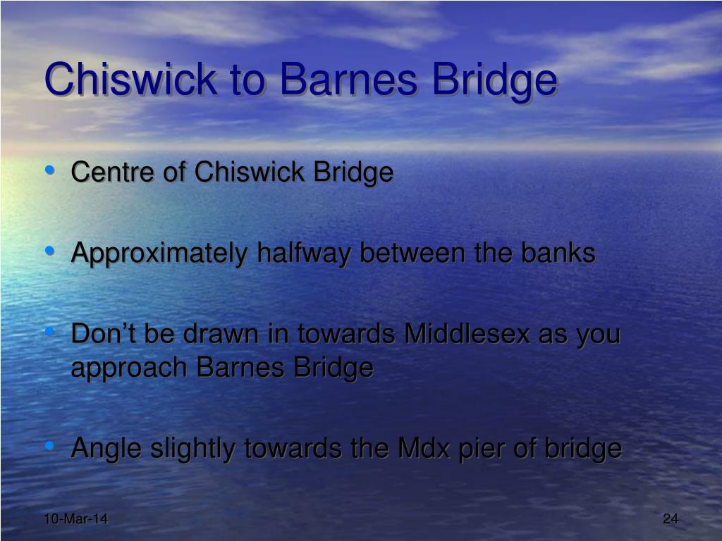 Chiswick to Barnes Bridge
