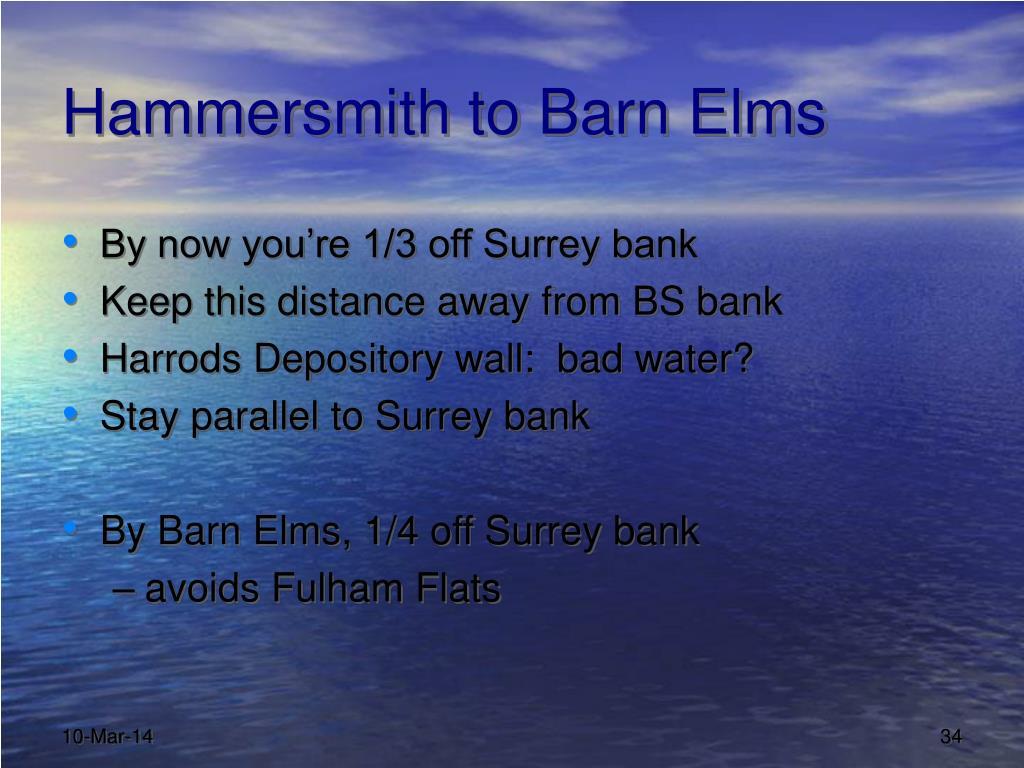 Hammersmith to Barn Elms