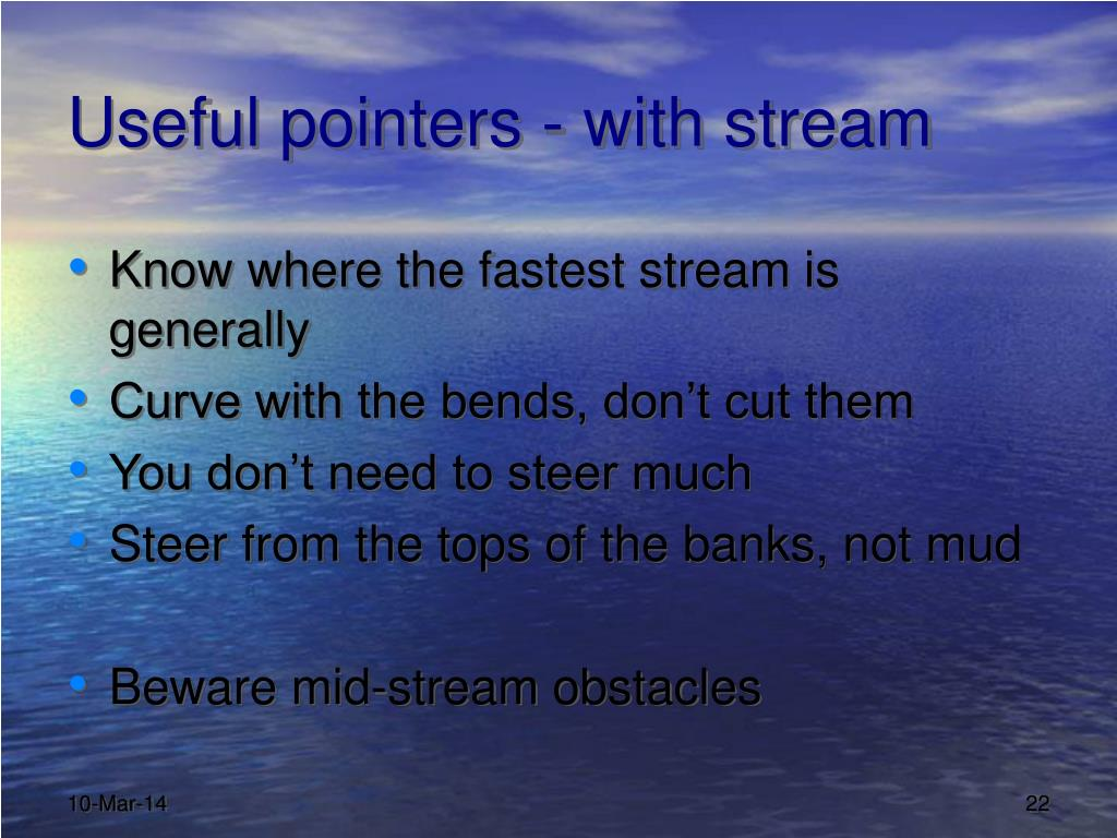 Useful pointers - with stream