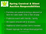 spring carnival silent auction responsibilities