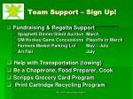 team support sign up