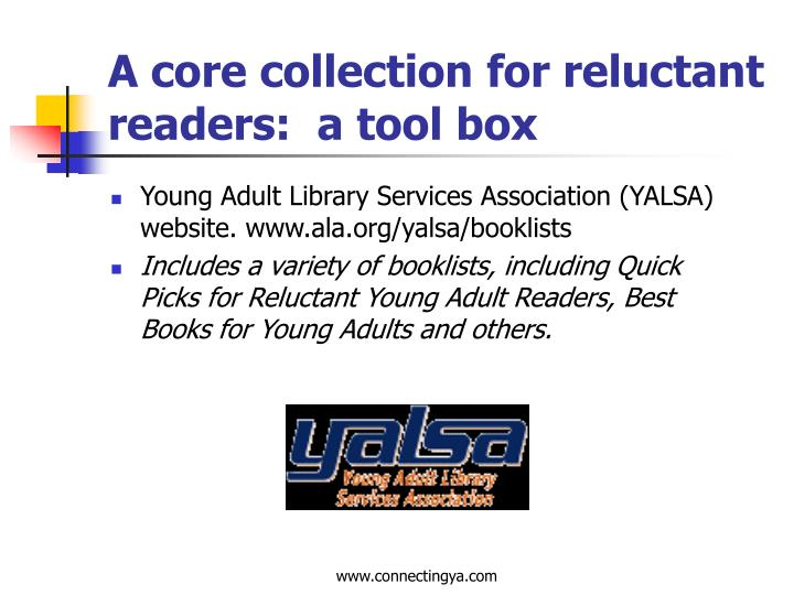 A core collection for reluctant readers:  a tool box