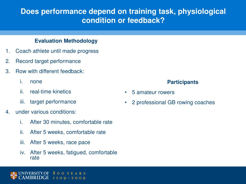 Does performance depend on training task, physiological condition or feedback?