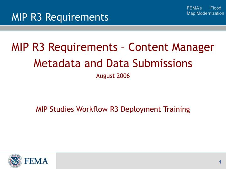 mip r3 requirements n.