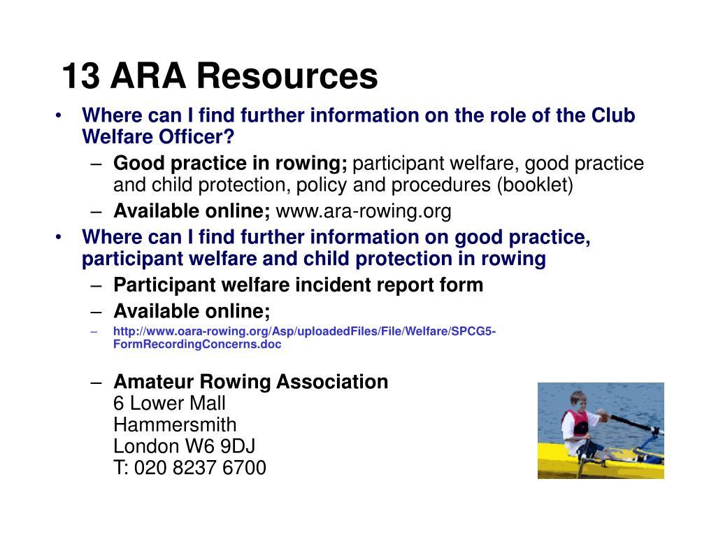 13 ARA Resources