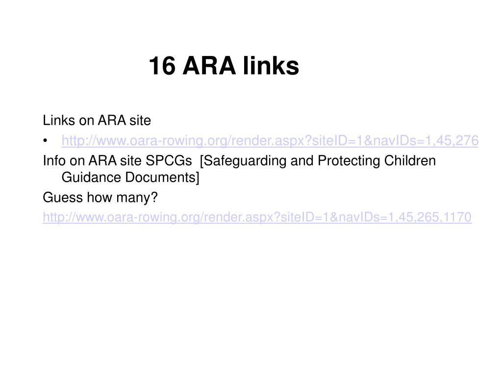 16 ARA links