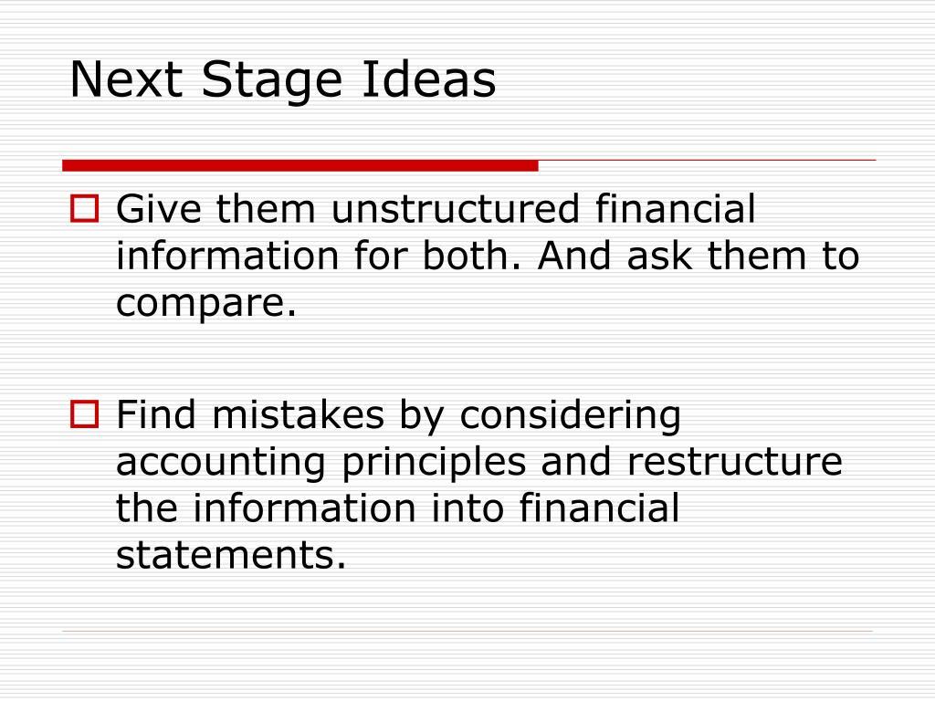 Next Stage Ideas