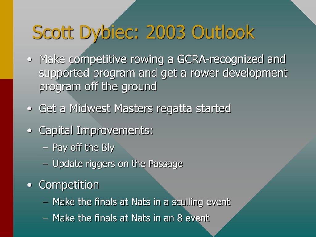 Scott Dybiec: 2003 Outlook