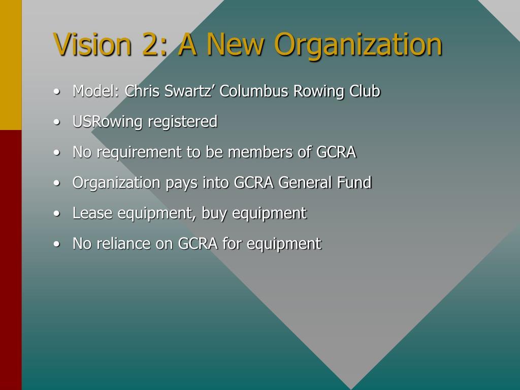 Vision 2: A New Organization