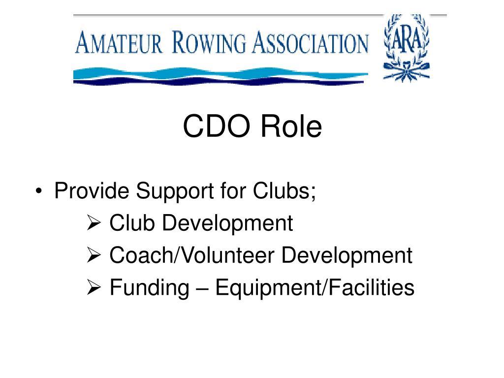 CDO Role