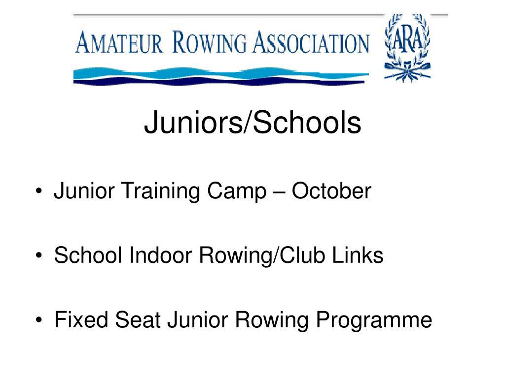 Juniors/Schools