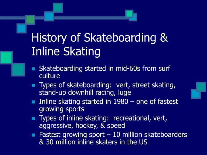 History of skateboarding inline skating