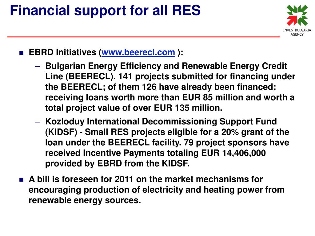EBRD Initiatives (