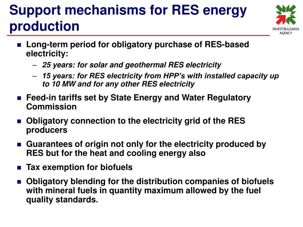Long-term period for obligatory purchase of RES-based electricity: