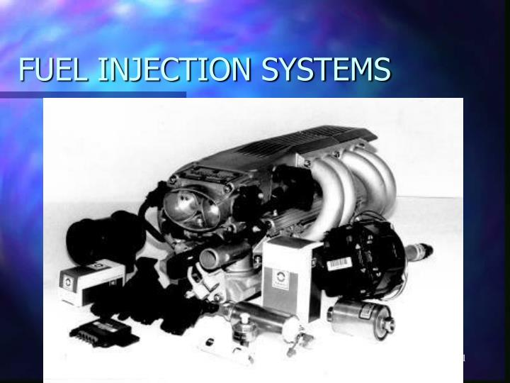 fuel injection systems n.