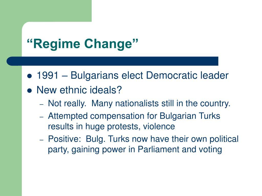 """""""Regime Change"""""""