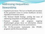 addressing inequalities stewardship
