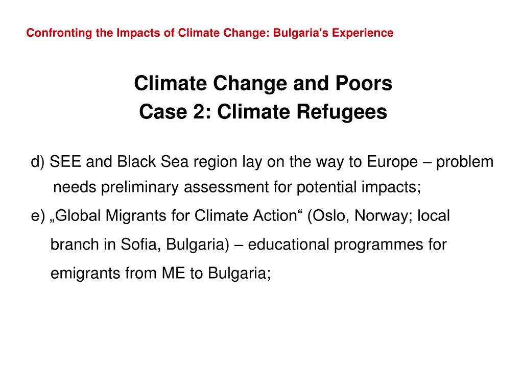 Confronting the Impacts of Climate Change: Bulgaria's Experience