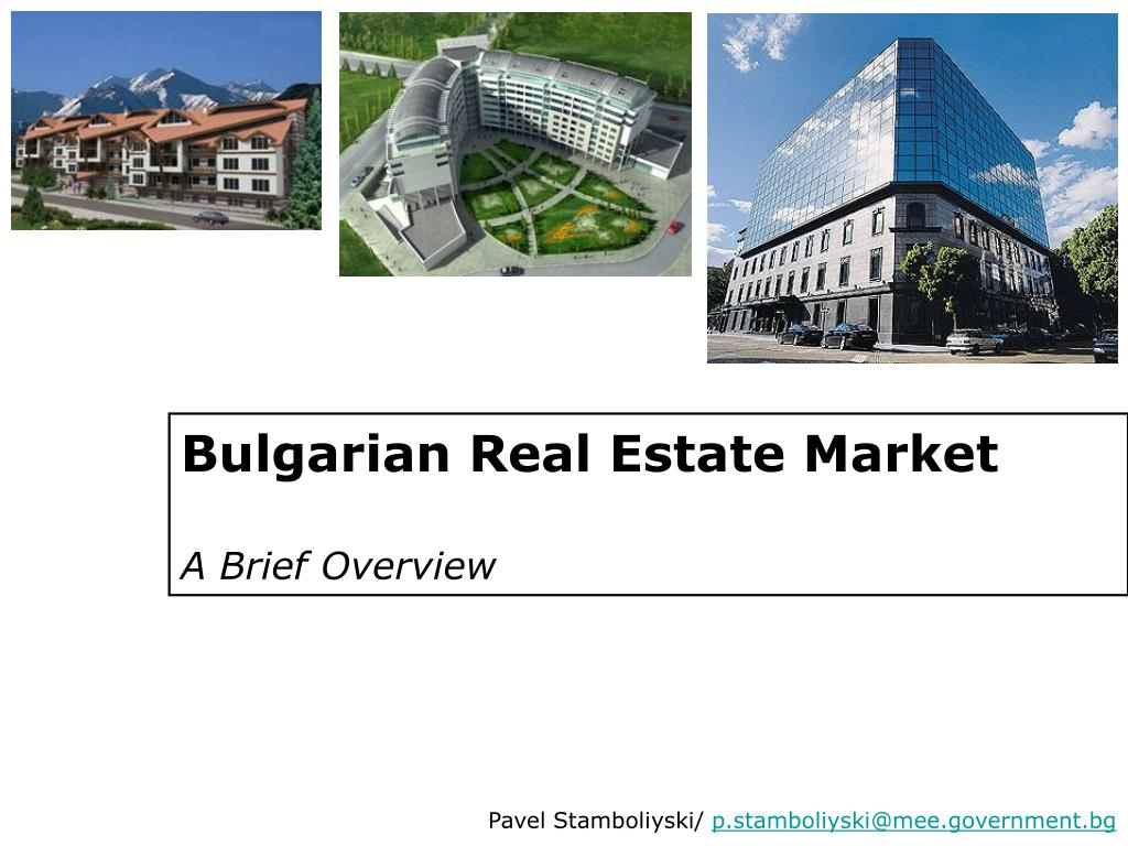 bulgarian real estate market a brief overview l.