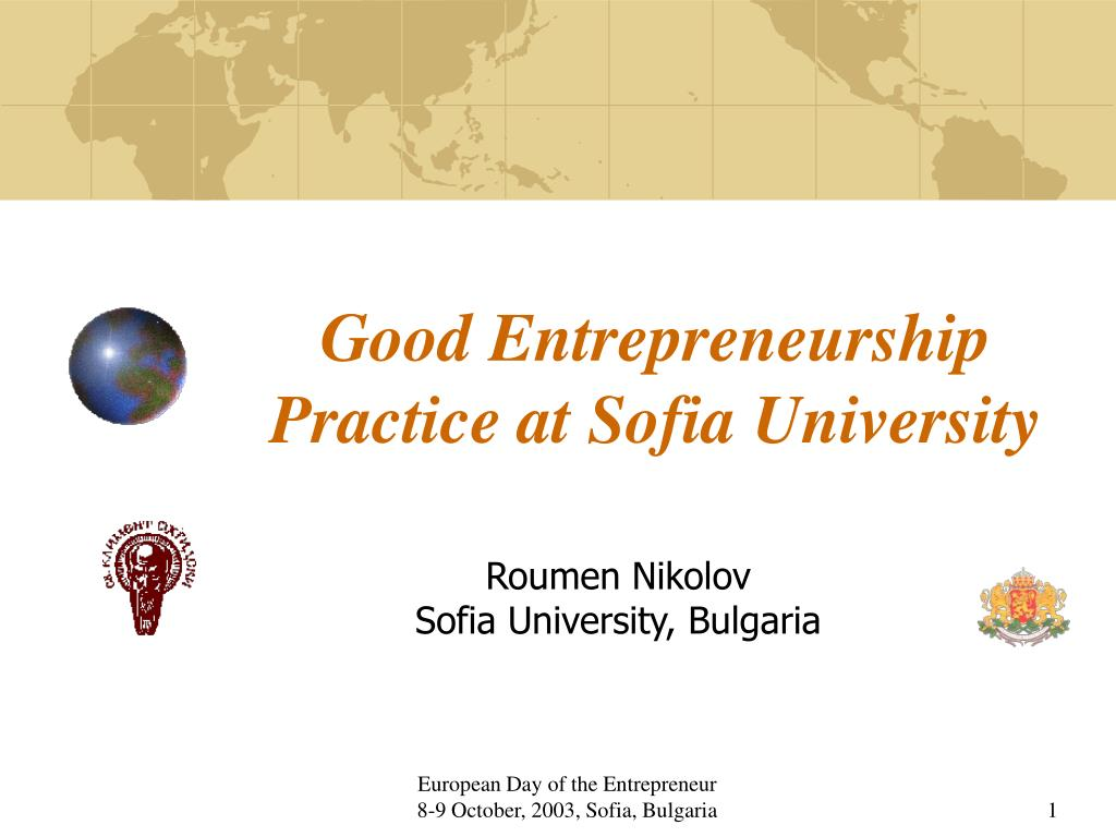 good entrepreneurship practice at sofia university l.