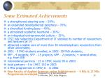 some estimated achievements