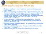 stimulated academic heartland
