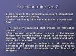 questionnaire no 29
