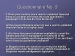 questionnaire no 319