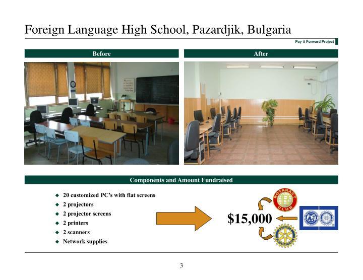 Foreign language high school pazardjik bulgaria