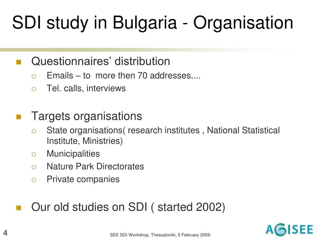SDI study in Bulgaria