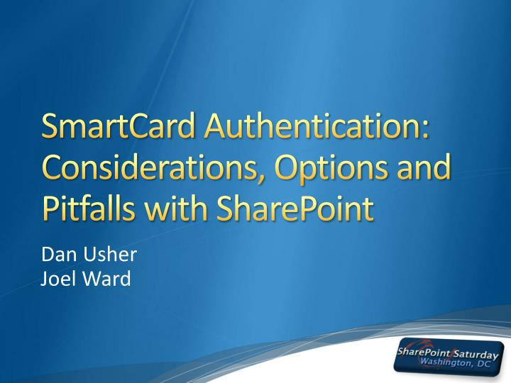 smartcard authentication considerations options and pitfalls with sharepoint n.