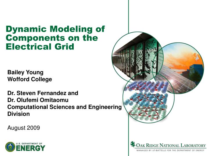 dynamic modeling of components on the electrical grid n.