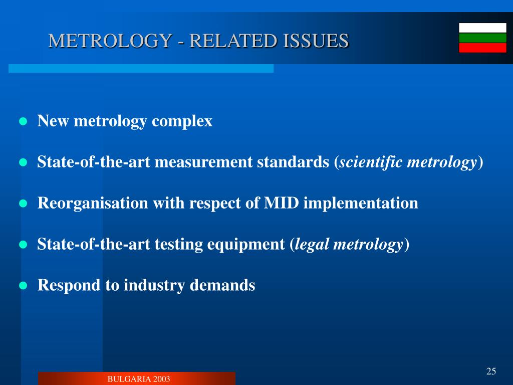 METROLOGY - RELATED ISSUES