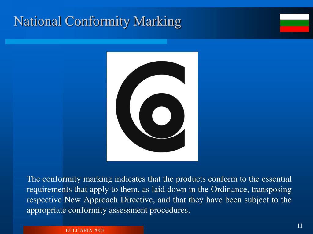 National Conformity Marking
