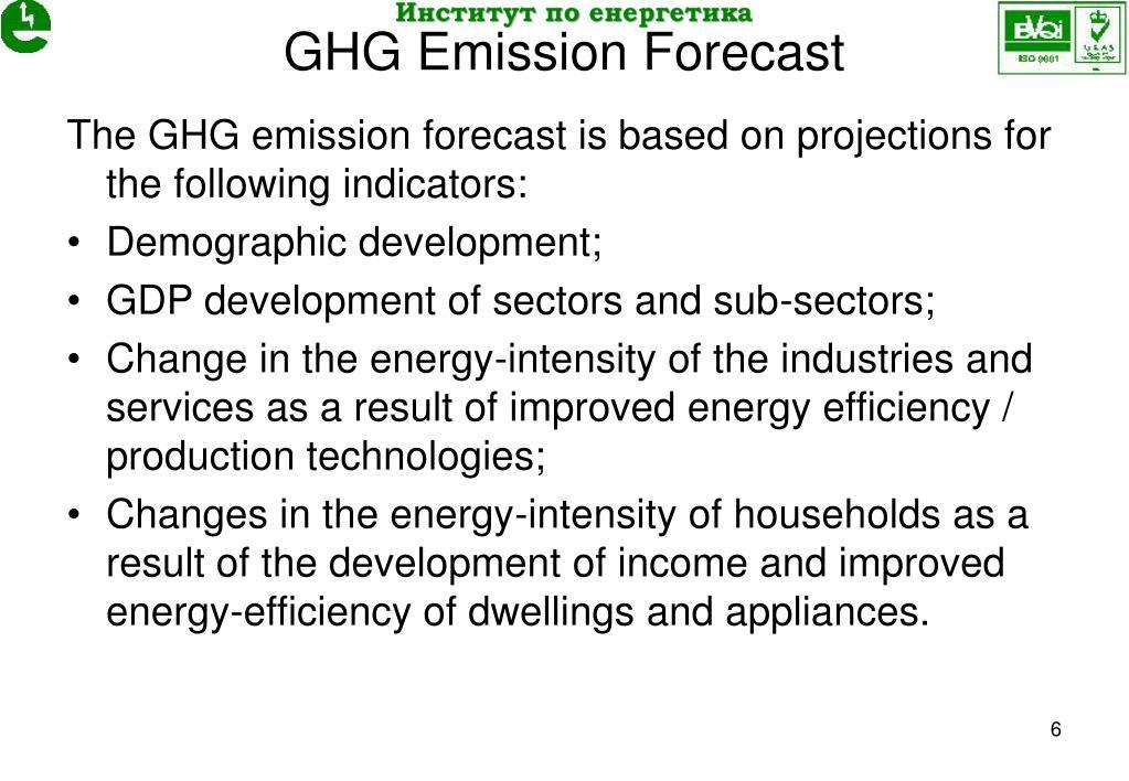 GHG Emission Forecast