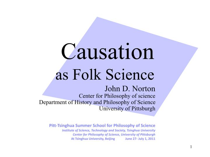 causation as folk science n.